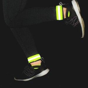 Image 4 - Marka wysoka widoczność kamizelka odblaskowa elastyczny pasek opaski kostki pojawienie się ostrzeżenie noc bieganie kolarstwo sportowe kamizelki bezpieczeństwa