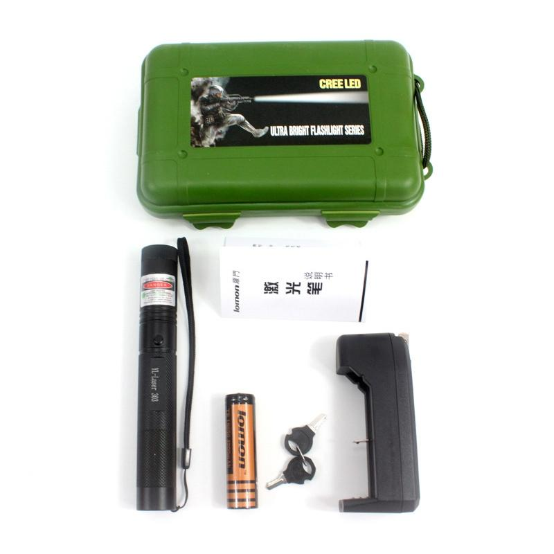 AKDSteel Green Laser Pointer Power Strong Light Match Cigarette and Fire Lighter beam Laser Flashlight Torch