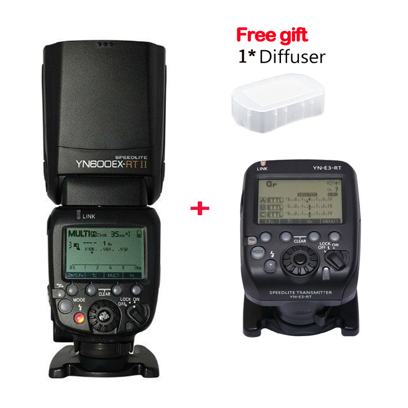 2017 Yongnuo YN-600EX-RT II 2.4G Wireless HSS 1/8000s Master Flash Speedlite + YN-E3-RT Flash Trigger for Canon EOS Camera yongnuo yn e3 rt ttl radio trigger speedlite transmitter as st e3 rt for canon 600ex rt yongnuo yn600ex rt