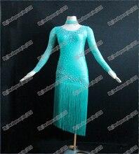 Wholesale- Ballroom Latin Competition Dance Dress,Latin Performing Dress,Latin peacock Latin Dress Costume L-0003