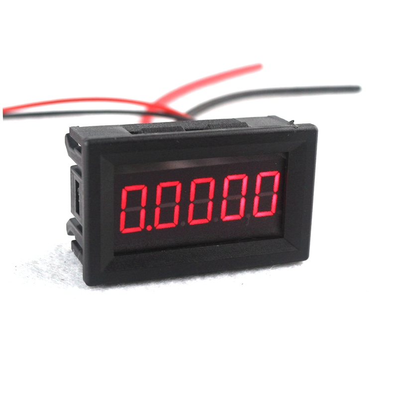 0.36 5 Digits 0-3.0000A DC Ammeter Digital Amp Ampere Panel Meter Red LED Electric Current Tester Gauge Built-in Shunt dc 100a analog ammeter panel amp current meter 85c1 gauge 0 100a dc shunt