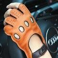 Женские перчатки из натуральной кожи  Нескользящие дышащие перчатки без подкладки с полупальцевым покрытием EL116  2020