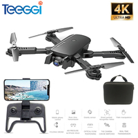 Teeggi M66 RC Drone with 4K Camera Drone Wide Angle Optical Flow Positioning Gesture Photo Wifi FPV Foldable Quadcopter Vs E58