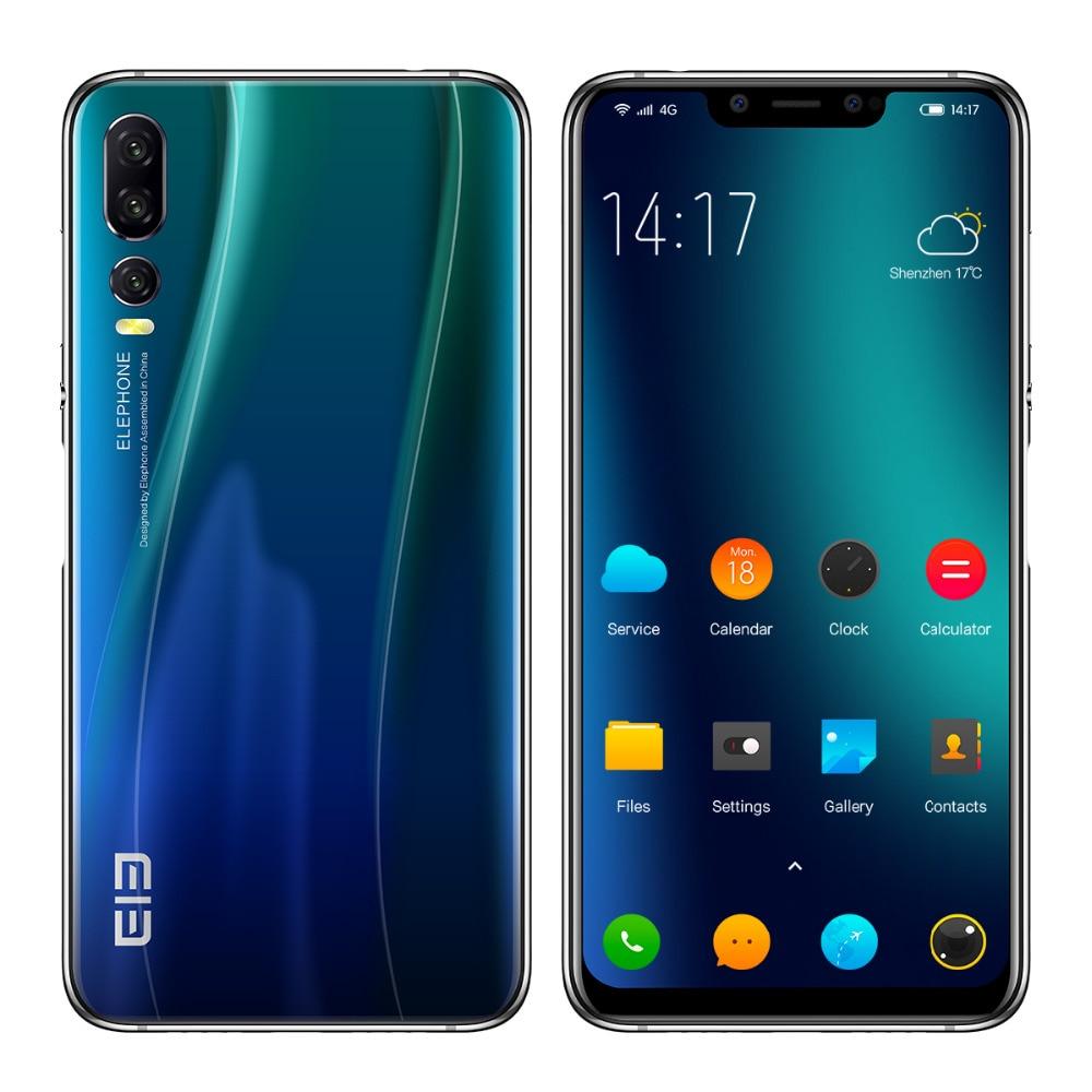 "Elephone A5 Android 8.1 New 6.18"" 18.7:9 P60 MT6771 Quad Core 4GB RAM 64GB ROM 12MP+20MP Face Unlock Fingerprint 4G Mobile Phone"