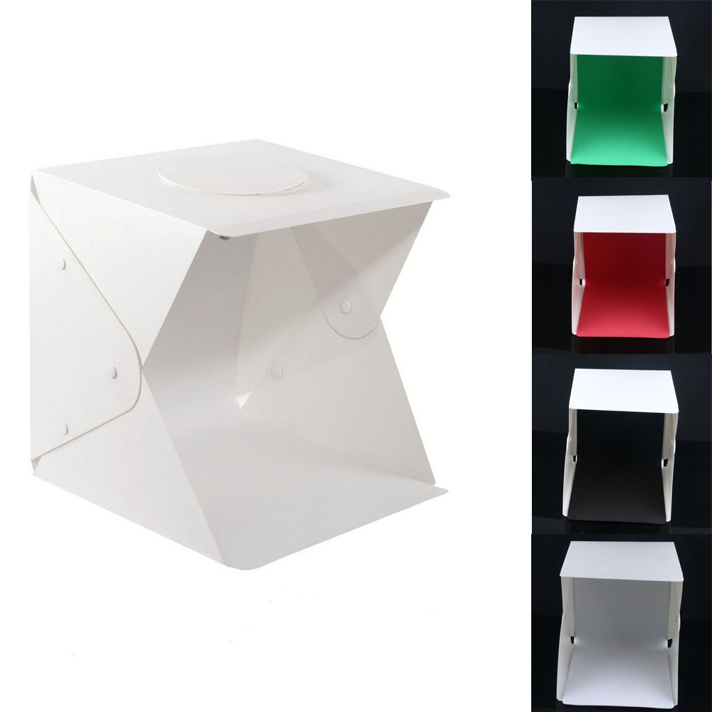 17 Folding LED Lightbox Light Tent Portable Photography Studio Softbox Light box for iPhone Samsang Smartphone