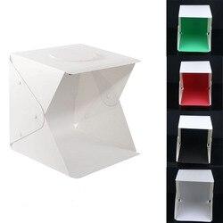 17'' Folding LED Lightbox Light Tent Portable Photography Studio Softbox Light box for iPhone Samsang Smartphone or DSLR Camera