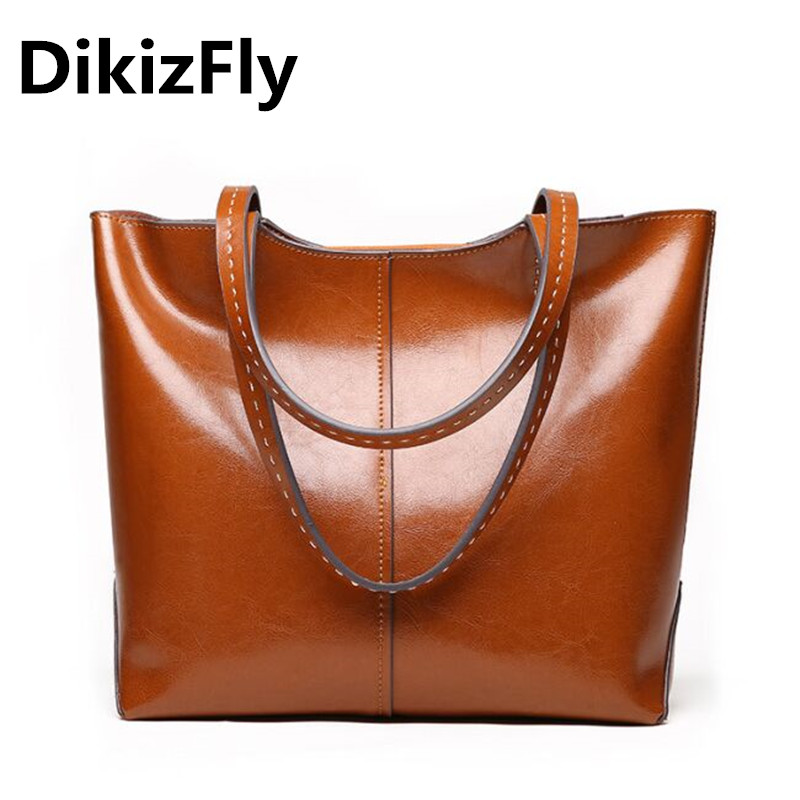 DikizFly 2017 Fashion Women Bag Luxury Brand Split Cow Leather Women Top-Handle Bags Ladies Handbags Woman Leather Handbags Sacs