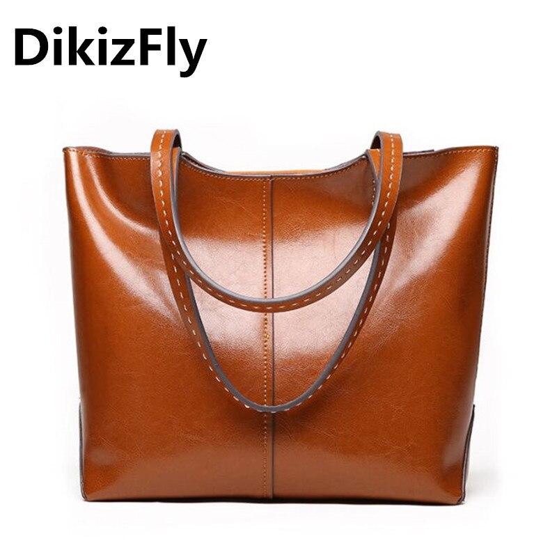DikizFly 2018 Fashion Women Bag Luxury Brand Split Cow Leather Women Top-Handle Bags Ladies Handbags Woman Leather Handbags Sacs