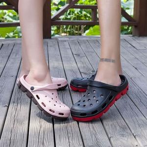 Image 2 - Mens Rubber Beach Sandals Summer Shoe Clogs Men Garden Shoes Clog Zuecos Hombre Sandalias Playa Cholas Outdoor Plus Big Size