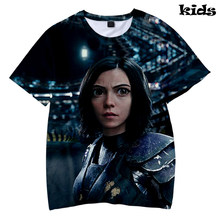 Frdun Tommy Alita Battle Angel 3D Kids T-shirt Fashion Streetwear Casual Shirt Zomer Mode Korte Mouw T-shirt Jongens/Meisjes(China)
