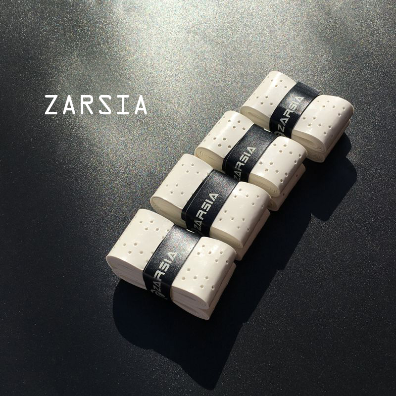 30 pcs ZARSIA sticky feel Overgrip tennis grips perforated Badminton Grip tacky Anti-skid tennis overgrips Absorbed Wraps