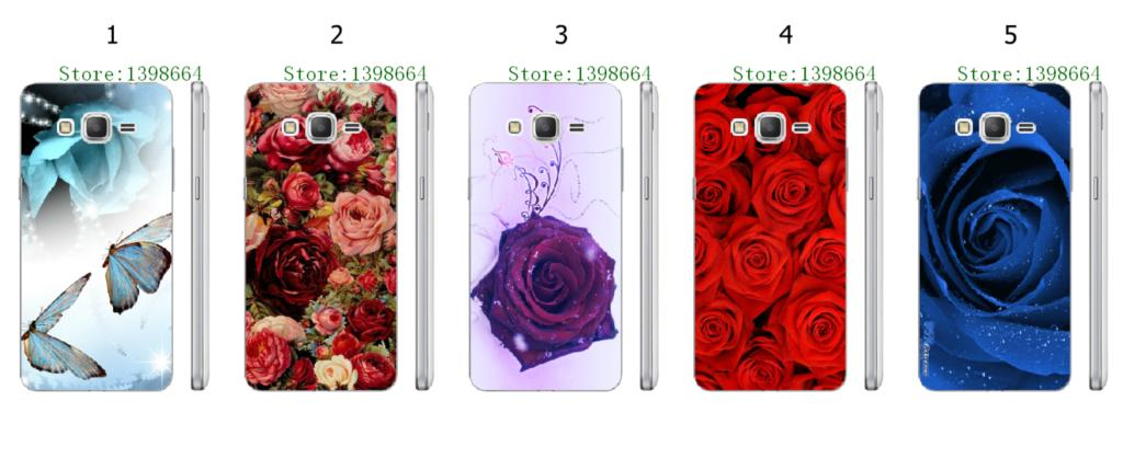 Online-custom rose hot hard plastic back cover case for Samsung Galaxy Grand Prime G530 G530H G5308W Free Shipping
