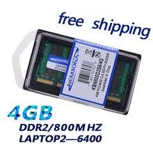 Ram 800mhz da memória de sodimm das microplaquetas ddr2 4gb 16 do portátil de kembona para a memória de ram do caderno 200pin do portátil