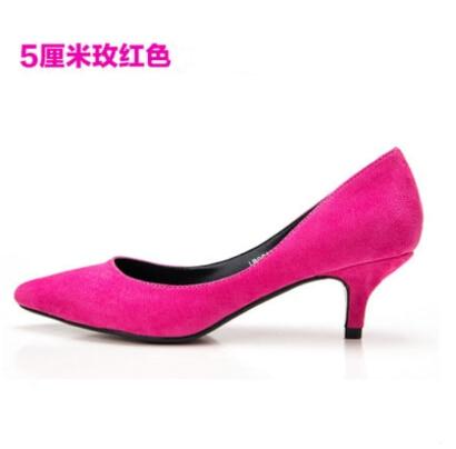 Pompe Unique rouge Pointu Chaussures Usine Plus De bleu Bout Taille Talon 42 2016 rose vert Nouveau Noir Ol Carrière Bas Dame Travail Femmes La marron 7T7cnW6
