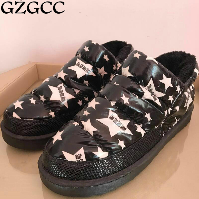 GZGCC warm winter ankle snow boots Female Women s Flat Platform Bootie Botas Mujer
