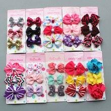 3pcs/set Handmade Print Flower Bowknot Hairpins Boutique Girls Hair Clips Fashion hair accessories Headdress Kids hair ornaments