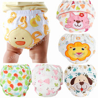 3Pcs Washable Baby Cloth Diaper Cover Waterproof Baby Diapers Reusable Cloth Nappy Cotton Cloth Diapers Baby