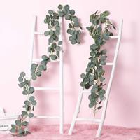 2m Artificial Vine Plant Fake Garland Ivy Leaf Tree for Wedding Decoration/Photography Prop/DIY Hanging Home Garden Decorative