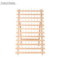 KiWarm Durable 120 Spools Wood Folded Thread Rack Sewing Embroidery Stand Holder Organizer Sewing Tools