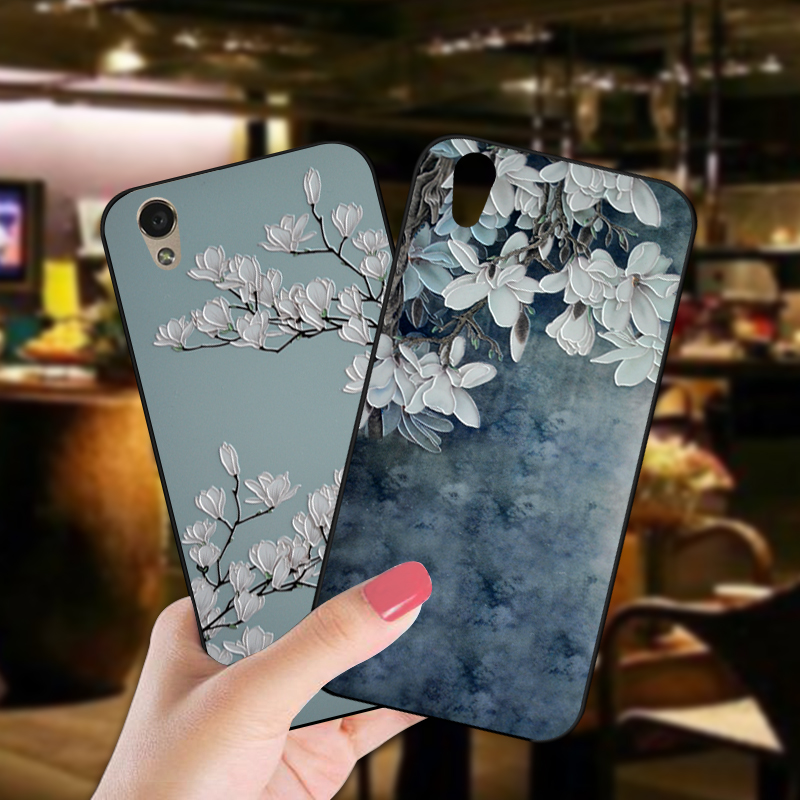 ShuiCaoRen Luxury Silicone <font><b>Case</b></font> For OPPO A30 Pretty Flower TPU Phone Cover Bag For <font><b>Oneplus</b></font> X <font><b>E1001</b></font> E1003 <font><b>Cases</b></font> image