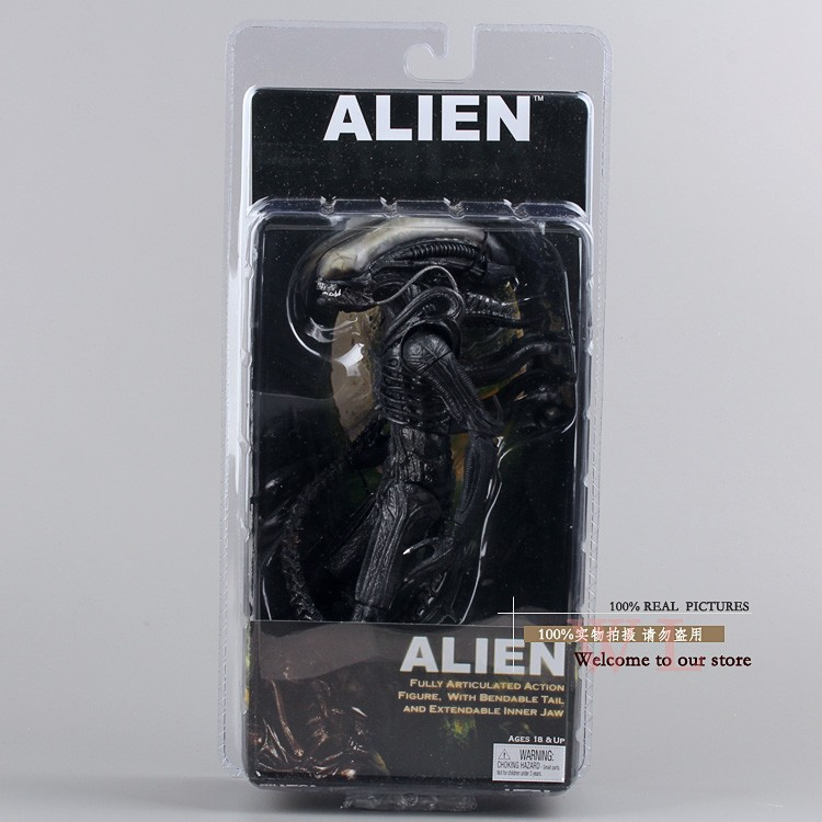 "Free Shipping Fashion New Arrival NECA Official <font><b>1979</b></font> Movie Classic Original <font><b>Alien</b></font> 7"" <font><b>Action</b></font> <font><b>Figure</b></font> Toy Doll MVFG035"