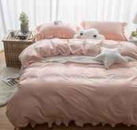100%コットンピンク刺繍高級オリエンタル寝具セットキングクイーンサイズベッドセット布団カバーシーツ枕カバー蓮の