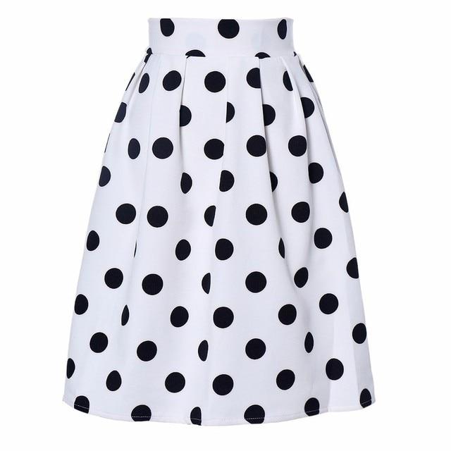 Sleeper #401 2019 NEW FASHION Women Bodycon Polka Dot Umbrella Skirt Retro Puff Skirts casual wear summer charm Free Shipping 2