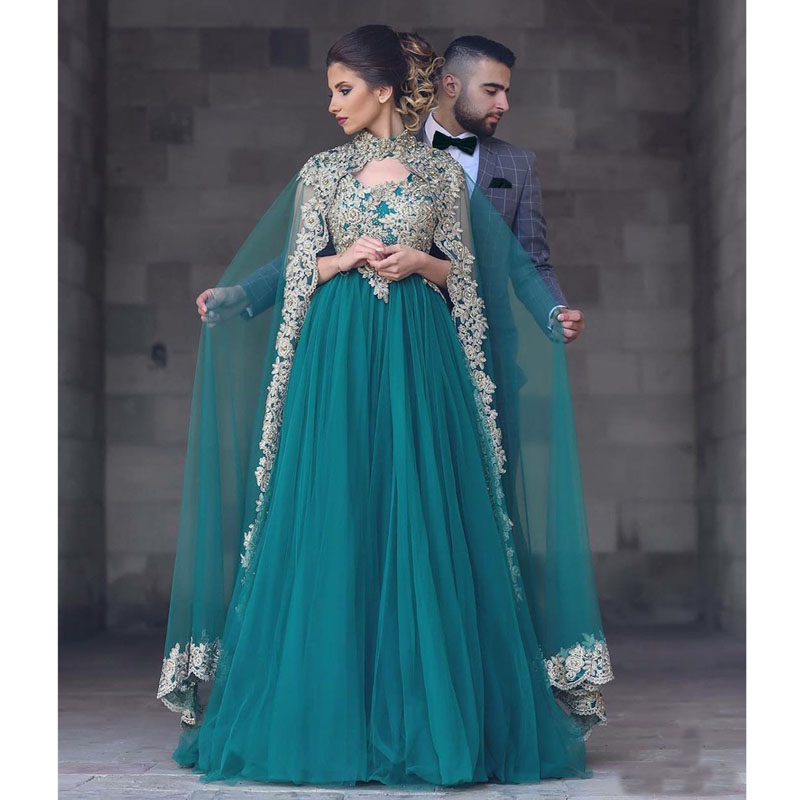 Robe De Soiree Arabic   Prom     Dresses   2019 Applique Lace Evening Gowns A Line Special Occasion Imported Party   Dress   For Women