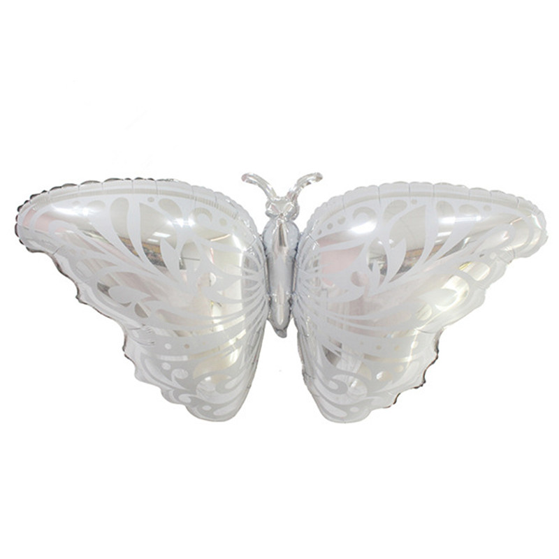 Large Silver Butterfly foil balloons helium balloon globos inflatable toys weddi