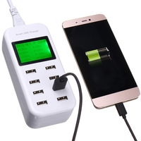 Eu/米国/イギリス/auユニバーサル旅行8ポートスマートusb充電器のac電源アダプタled表示充電のためのipad用iphoneアンドロイドデバイス
