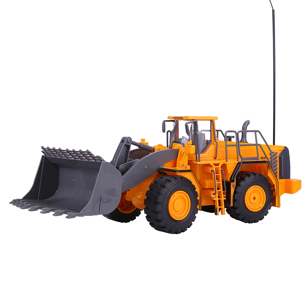 rc bulldozer truck wheeled loading shovel large remote controlled