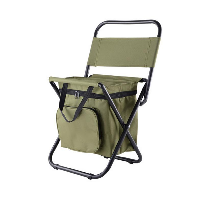 Outdoor Folding Chair Portable Chair Fishing Multi Functional Insulation  With Cooler Bag Stool Foldable Fishing Chair | KingLow.com