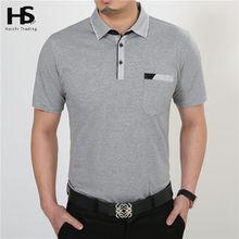 O Envio gratuito de Camisa de Manga Curta T Roupas de Algodão T-Shirt Dos Homens com Bolso Casual Vestido Atacado Fábrica Mais XXXXL Tamanho S 2229(China (Mainland))