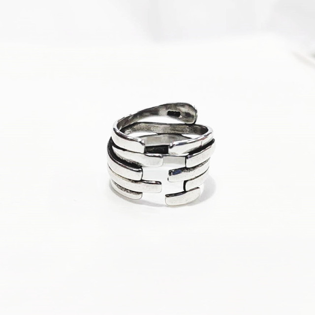 Personality Exaggerated 925 Sterling Silver Irregular Geometric Rings For Women Engagement Jewelry Girls Open Finger Rings