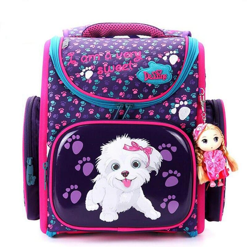 Delune Новый Европейский Большой Ёмкость ортопедическая детская школьная сумка для мальчиков и девочек рюкзак Мультфильм Mochila Infantil школьный