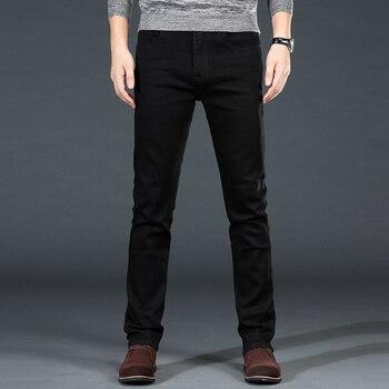 Men's Classic Black Jeans Elastic Slim 3
