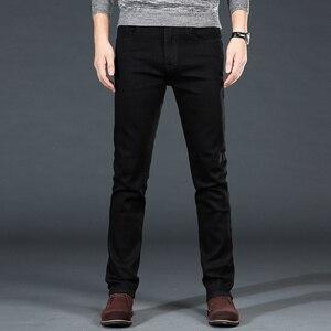 Image 3 - Mannen Klassieke Zwarte Jeans Elastische Slim Fit Denim Jean Broek Mannelijke Plus Size 40 42 44 46 Business Casual broek Merk