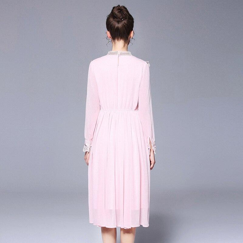 Taille Longue 4xl Plus Dentelle Robe 5xl La Rose Avec M Femmes Robes De Soie Mousseline Parti À Detailing Midi THr6Tq