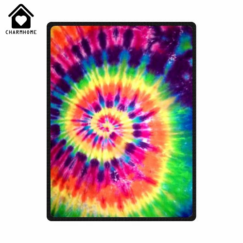Colorful Throw Blankets Classy CHARMHOME Customized Colorful Tie Dye Beautiful Unique Fleece Throw
