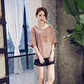 New 2016 summer women blouses female loose Chiffon Shirt Short Sleeved elegant Chiffon tops plus size vintage vetement femme
