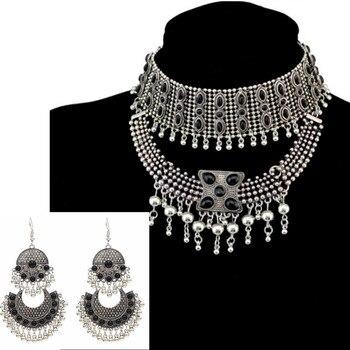 820479b3a22f Pakistán indio Kundan grueso gargantilla cuenta babero cuello para mujer  multicapa declaración Collar Maxi Afghanistan Gypsy joyería