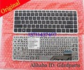 Laptop keyboard with sliver frame for HP for ENVY Sleekbook 14 14-k000 14-k100 Black US