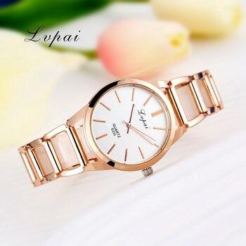 Lvpai brand luxury watch women dress bracelet watch fashion quartz wrist watch for women classic gold.jpg 350x350