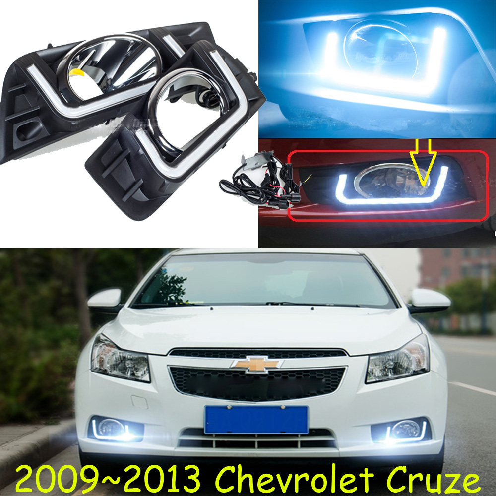 LED headlight Kit,cruz daytime light,2009 2010 2011 2012 2013,chrome,LED,Free ship!2pcs+1pcs wire of harness,car fog light for skoda superb 2008 2009 2010 2011 2012 2013 new led drl daytime running light fog light with wire of harness and gift