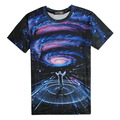 man t shirt summer 2015 tshirt casual clothing short sleeve 3d t-shirt galaxy Concert T-shirts swag clothes