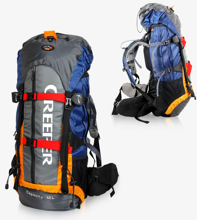 Creeper Camping Bag Professional Waterproof Rucksack Internal Frame Climbing Camping Hiking Backpack Mountaineering Bag 60L free shipping professional waterproof rucksack internal frame climbing camping hiking backpack mountaineering bag 60l