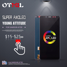 OTMIL 6AMOLED For SAMSUNG Galaxy A730 LCD Display Touch Screen Digitizer For SAMSUNG A8 Plus 2018 Display SM-A8+ A730F A730X #1 телефон samsung sm a730 galaxy a8 2018 32gb черный