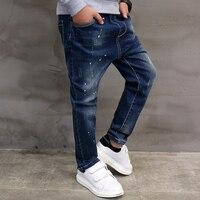 Pioneer dzieci chłopcy niebieski denim strench ciągnąć straight fit w pasie spodnie na co dzień dżinsy dla little big dzieci