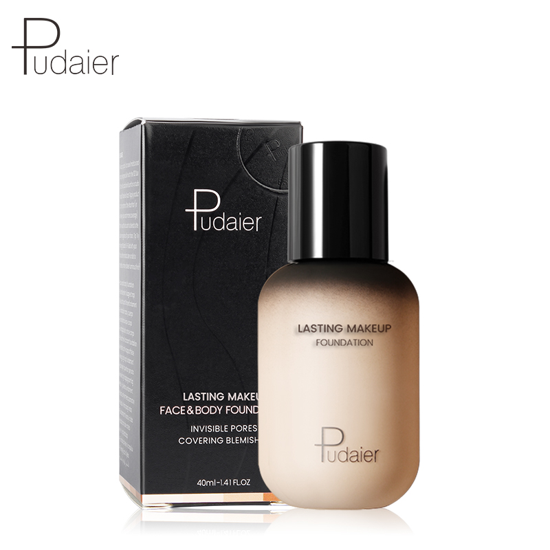 pudaier 40ml professional concealing foundation makeup matte tonal base Liquid cosmetics foundation cream for face full coverage 5