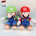 Super Mario Bros Plush Toys 4'' 11cm Small Sitting Mario & Sitting Luigi Soft Stuffed Plush Doll Baby Toy Small Pendant Keychain